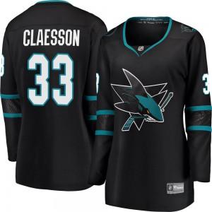 Fredrik Claesson San Jose Sharks Women's Fanatics Branded Black Breakaway Alternate Jersey