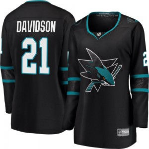 Brandon Davidson San Jose Sharks Women's Fanatics Branded Black ized Breakaway Alternate Jersey