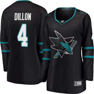 Brenden Dillon San Jose Sharks Women's Fanatics Branded Black Breakaway Alternate Jersey