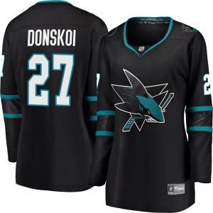 Joonas Donskoi San Jose Sharks Women's Fanatics Branded Black Breakaway Alternate Jersey