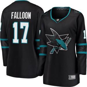 Pat Falloon San Jose Sharks Women's Fanatics Branded Black Breakaway Alternate Jersey