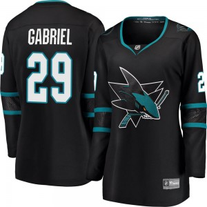 Kurtis Gabriel San Jose Sharks Women's Fanatics Branded Black Breakaway Alternate Jersey