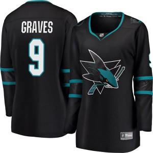 Adam Graves San Jose Sharks Women's Fanatics Branded Black Breakaway Alternate Jersey