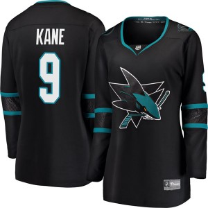 Evander Kane San Jose Sharks Women's Fanatics Branded Black Breakaway Alternate Jersey