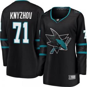 Nikolai Knyzhov San Jose Sharks Women's Fanatics Branded Black ized Breakaway Alternate Jersey