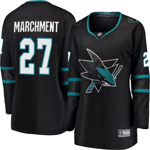 Bryan Marchment San Jose Sharks Women's Fanatics Branded Black Breakaway Alternate Jersey