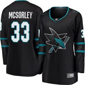 Marty Mcsorley San Jose Sharks Women's Fanatics Branded Black Breakaway Alternate Jersey