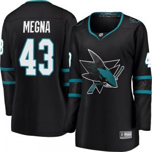 Jaycob Megna San Jose Sharks Women's Fanatics Branded Black Breakaway Alternate Jersey