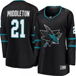 Jacob Middleton San Jose Sharks Women's Fanatics Branded Black Breakaway Alternate Jersey