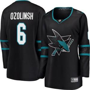 Sandis Ozolinsh San Jose Sharks Women's Fanatics Branded Black Breakaway Alternate Jersey