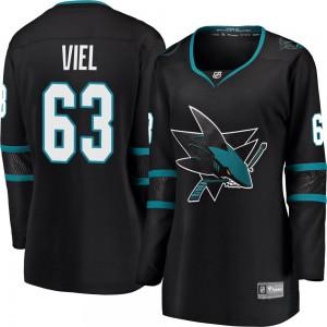 Jeffrey Viel San Jose Sharks Women's Fanatics Branded Black Breakaway Alternate Jersey