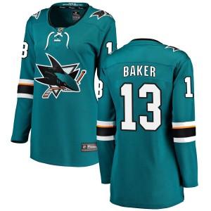 Jamie Baker San Jose Sharks Women's Fanatics Branded Teal Breakaway Home Jersey