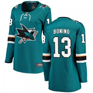 Nick Bonino San Jose Sharks Women's Fanatics Branded Teal Breakaway Home Jersey
