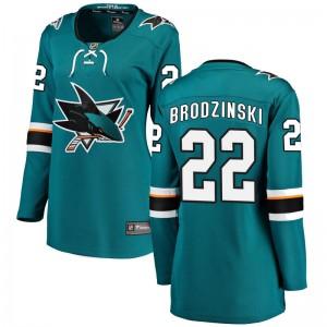 Jonny Brodzinski San Jose Sharks Women's Fanatics Branded Teal Breakaway Home Jersey