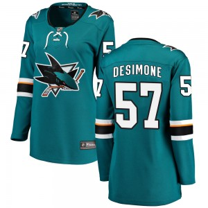 Nick DeSimone San Jose Sharks Women's Fanatics Branded Teal Breakaway Home Jersey