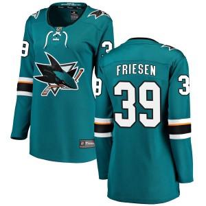Jeff Friesen San Jose Sharks Women's Fanatics Branded Teal Breakaway Home Jersey