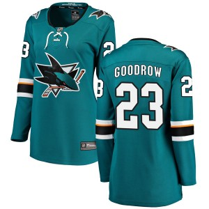 Barclay Goodrow San Jose Sharks Women's Fanatics Branded Teal Breakaway Home Jersey