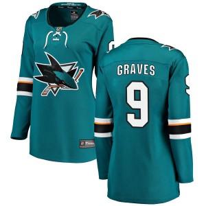 Adam Graves San Jose Sharks Women's Fanatics Branded Teal Breakaway Home Jersey