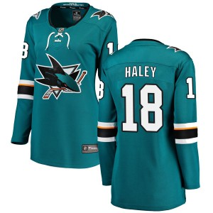 Micheal Haley San Jose Sharks Women's Fanatics Branded Teal Breakaway Home Jersey