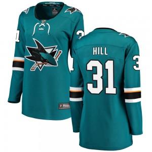 Adin Hill San Jose Sharks Women's Fanatics Branded Teal Breakaway Home Jersey