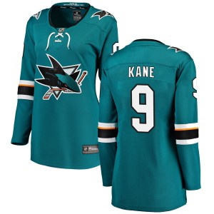 Evander Kane San Jose Sharks Women's Fanatics Branded Teal Breakaway Home Jersey