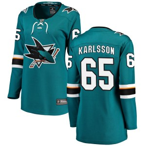 Erik Karlsson San Jose Sharks Women's Fanatics Branded Teal Breakaway Home Jersey