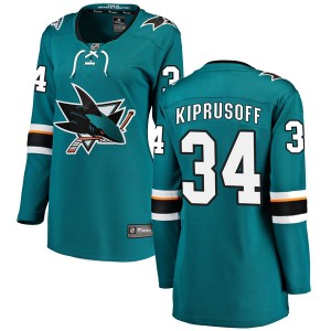 Miikka Kiprusoff San Jose Sharks Women's Fanatics Branded Teal Breakaway Home Jersey