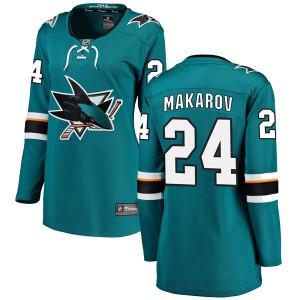 Sergei Makarov San Jose Sharks Women's Fanatics Branded Teal Breakaway Home Jersey