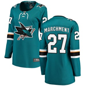 Bryan Marchment San Jose Sharks Women's Fanatics Branded Teal Breakaway Home Jersey