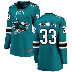 Marty Mcsorley San Jose Sharks Women's Fanatics Branded Teal Breakaway Home Jersey