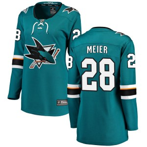 Timo Meier San Jose Sharks Women's Fanatics Branded Teal Breakaway Home Jersey
