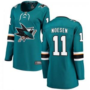 Stefan Noesen San Jose Sharks Women's Fanatics Branded Teal Breakaway Home Jersey