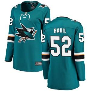 Lukas Radil San Jose Sharks Women's Fanatics Branded Teal Breakaway Home Jersey