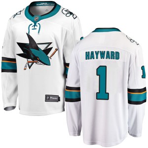 Brian Hayward San Jose Sharks Youth Fanatics Branded White Breakaway Away Jersey