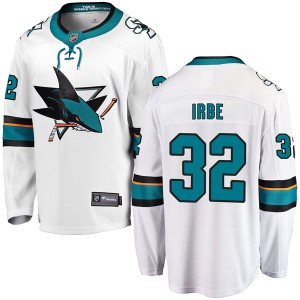Arturs Irbe San Jose Sharks Youth Fanatics Branded White Breakaway Away Jersey
