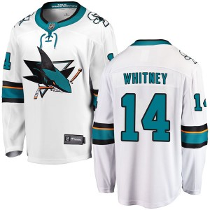 Ray Whitney San Jose Sharks Youth Fanatics Branded White Breakaway Away Jersey