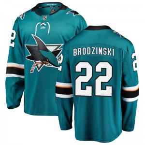 Jonny Brodzinski San Jose Sharks Youth Fanatics Branded Teal Breakaway Home Jersey