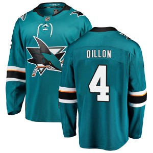 Brenden Dillon San Jose Sharks Youth Fanatics Branded Teal Breakaway Home Jersey