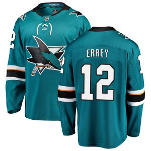 Bob Errey San Jose Sharks Youth Fanatics Branded Teal Breakaway Home Jersey