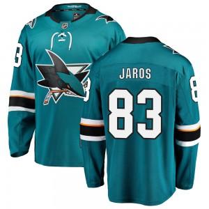 Christian Jaros San Jose Sharks Youth Fanatics Branded Teal Breakaway Home Jersey