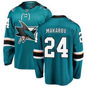 Sergei Makarov San Jose Sharks Youth Fanatics Branded Teal Breakaway Home Jersey