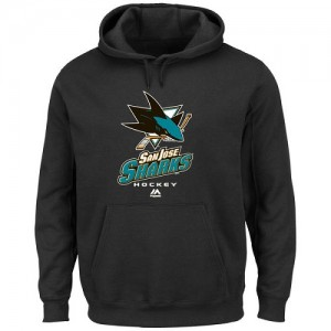 San Jose Sharks Men's Majestic Black Critical Victory VIII Pullover Hoodie