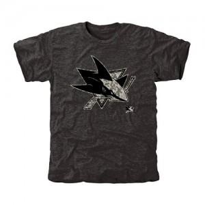 San Jose Sharks Men's Black Rink Warrior Tri-Blend T-Shirt
