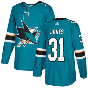 Martin Jones San Jose Sharks Men's Adidas Authentic Teal Jersey