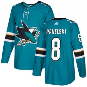 Joe Pavelski San Jose Sharks Youth Adidas Authentic Green Teal Home Jersey