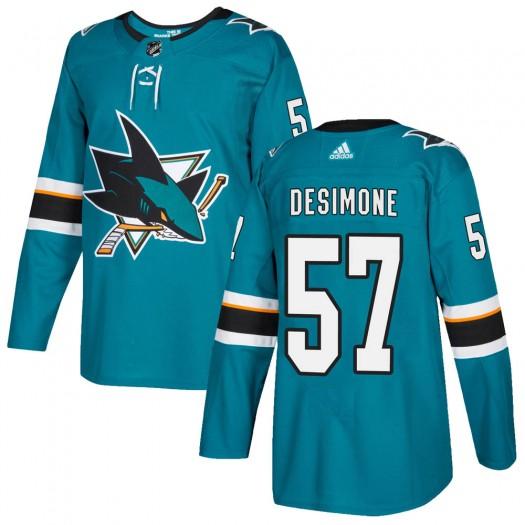 Nick DeSimone San Jose Sharks Men's Adidas Authentic Teal ized Home Jersey