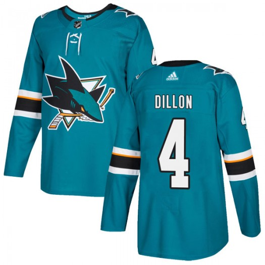 Brenden Dillon San Jose Sharks Men's Adidas Authentic Teal Home Jersey