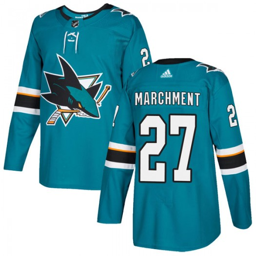 Bryan Marchment San Jose Sharks Men's Adidas Authentic Teal Home Jersey