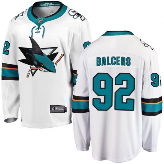 Rudolfs Balcers San Jose Sharks Men's Fanatics Branded White Breakaway Away Jersey