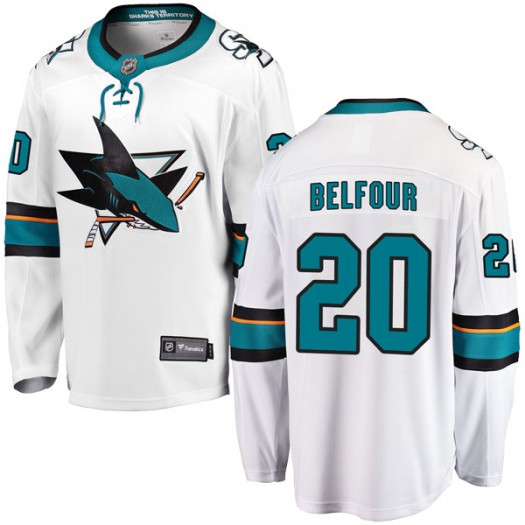 Ed Belfour San Jose Sharks Men's Fanatics Branded White Breakaway Away Jersey